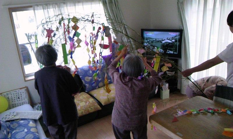 七夕の笹作り